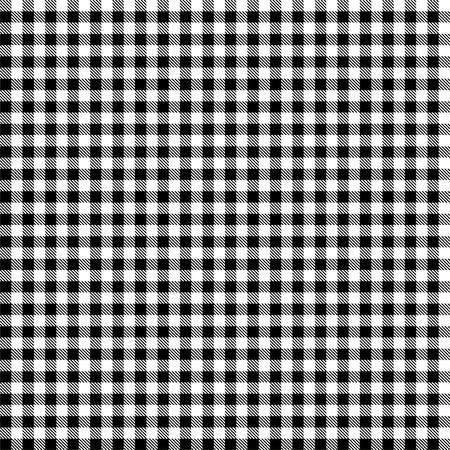 원활한 흑백 체크 무늬 식탁보 패턴