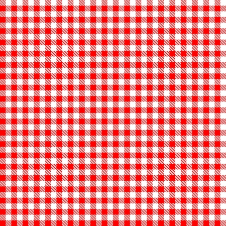 Seamless red checkered tablecloth pattern