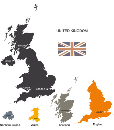 belfast: United Kingdom Vector Map