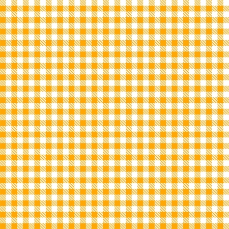 french cafe: Seamless yellow checkered tablecloth pattern Illustration