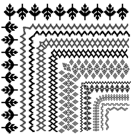 tiling: Collection of tiling embroidery borders  frames