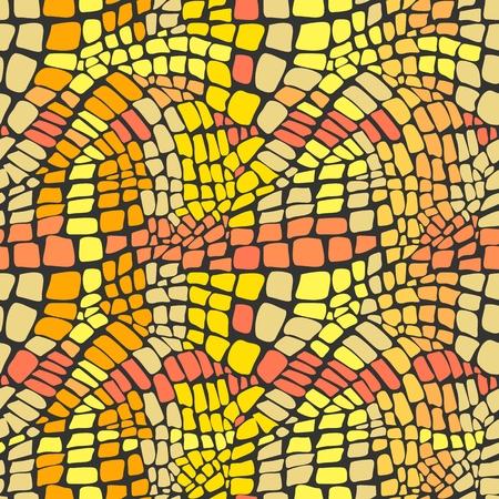 snake leather: Reptile skin seamless pattern Illustration