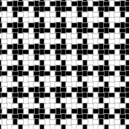 cuadros blanco y negro: Houndstooth Modelo inconsútil del vector Vectores