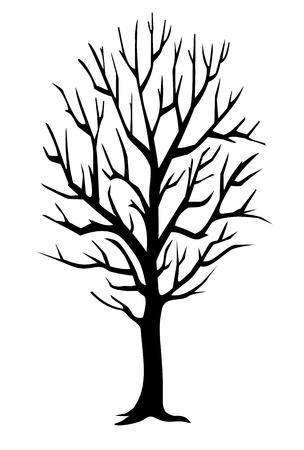 Winter tree Ilustração