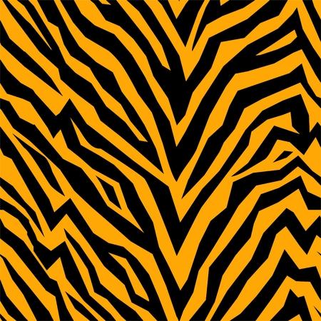 虎の皮シームレスなベクトル パターン  イラスト・ベクター素材