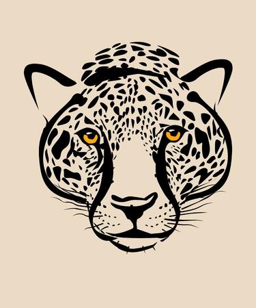 Leopard head symbol