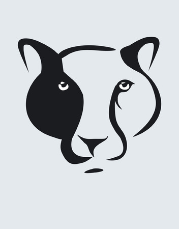 zoo as: Leopard head symbol