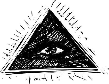 Alziend oog, vector illustratie Stock Illustratie