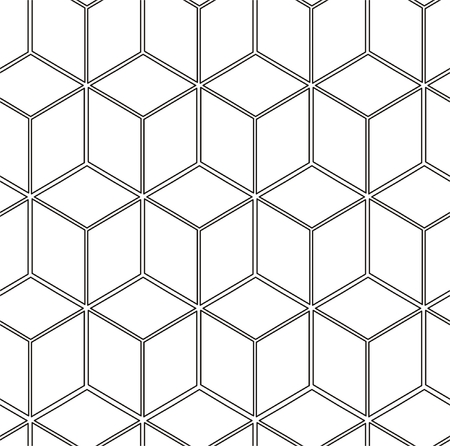 Seamless pattern with cubes