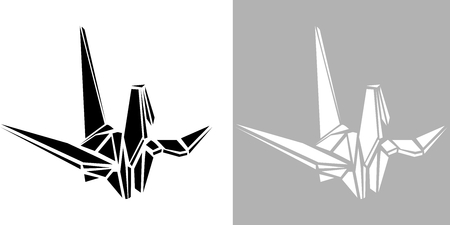 vector art: Origami crane vector icon