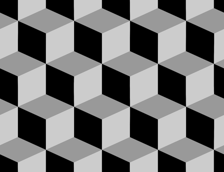 repeat pattern: Seamless vector pattern with cubes