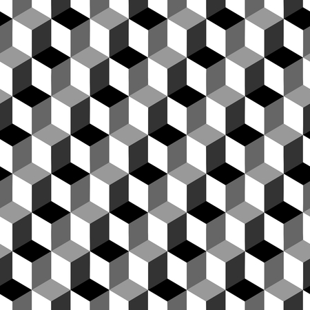 patterns vector: Vector cubes seamless pattern