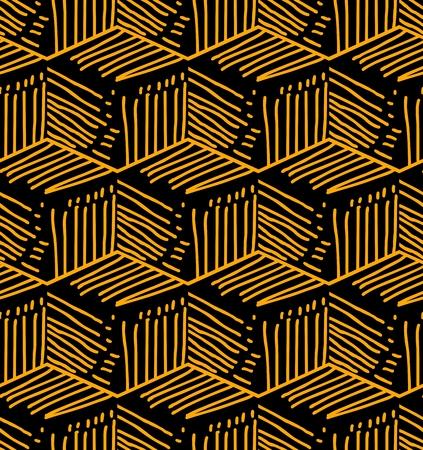 Print design: Vector cubes seamless pattern