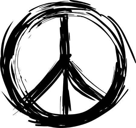 vector  sign: Peace symbol