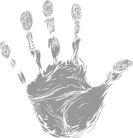 hand print: Hand print