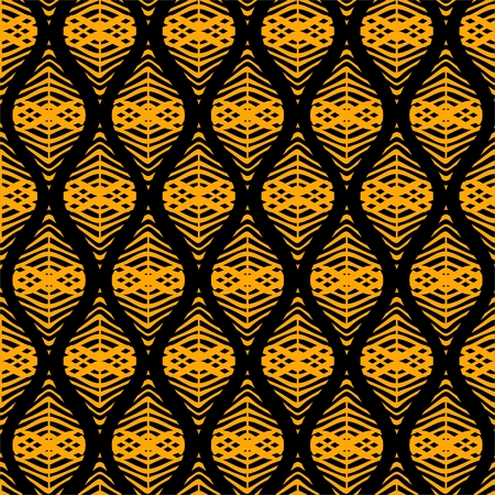 yellow leaves: Seamless pattern with abstract yellow leaves Illustration