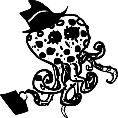 busness: Funny octopus