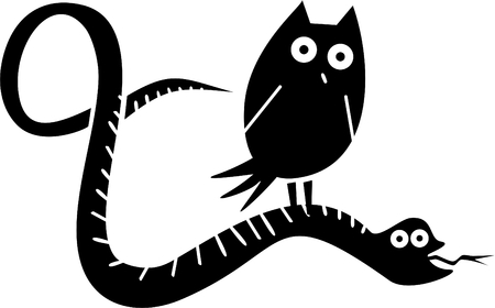 fart: Funny owl and snake