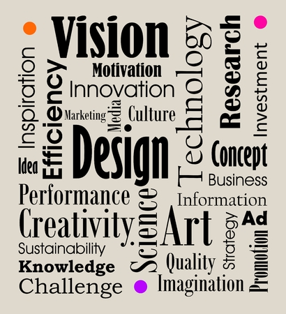 creativity concept: Creativity art and graphic design word cloud concept illustration Illustration