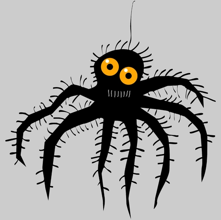 Funny cartoon spider Stock Illustratie