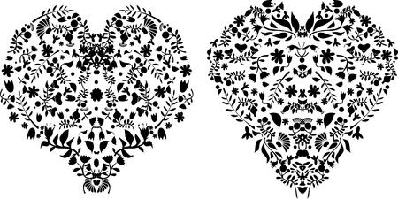 Flowers in shape of heart