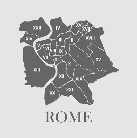 Rome map Illustration