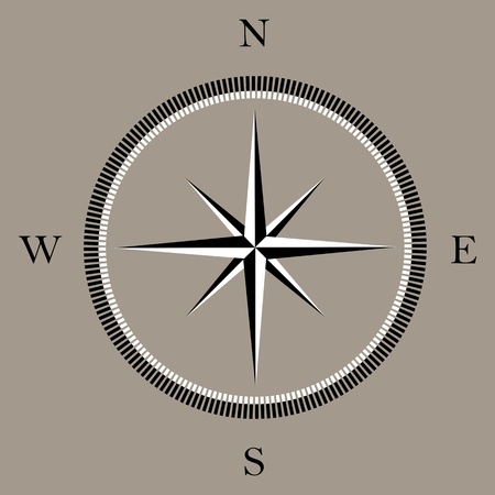 directions icon: Wind rose compass icon