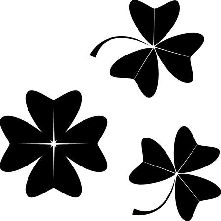 Set of clover. Illustration