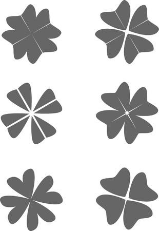patric: Set of clover. Illustration