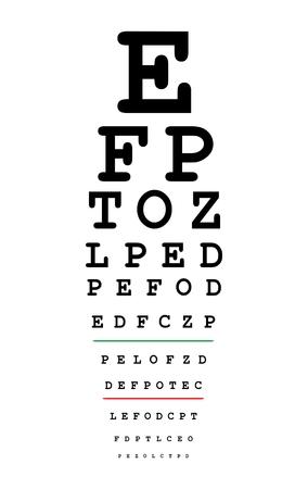 Carta de prueba de ojos Foto de archivo - 76954154