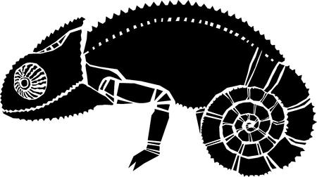 Kameleon vectorillustratie