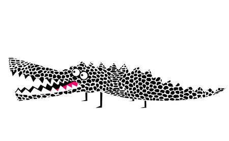 Funny cartoon crocodile Ilustração