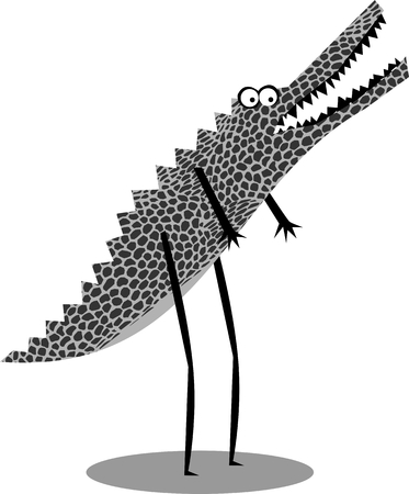Funny cartoon crocodile Illustration