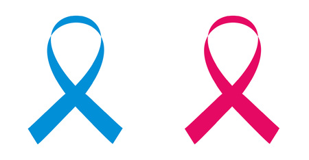 Blue and pink awareness ribbons