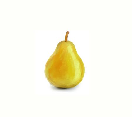 Illustration of yellow pear on white background