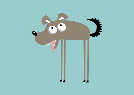 Funny dog illustration Vektoros illusztráció