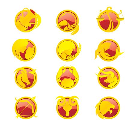Zodiac Sign Set Ilustracja