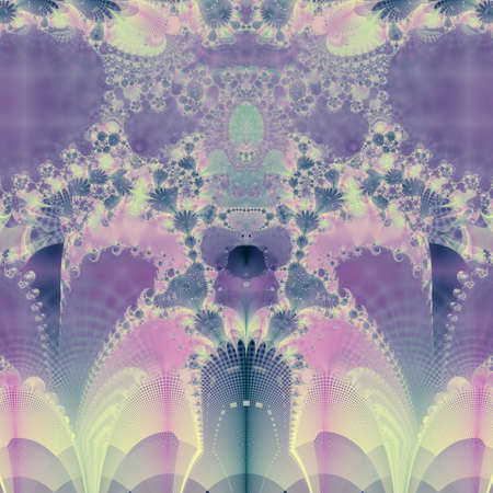 Bright and funky original fractal design, abstract art, purple spring photo