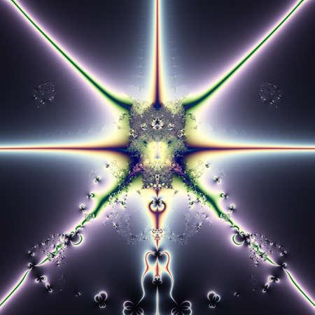 Elegant fractal design, abstract art, purple space