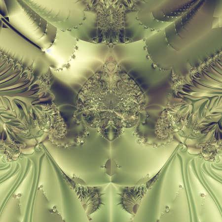 Elegant fractal design, abstract art, metallic curtain Stock Photo