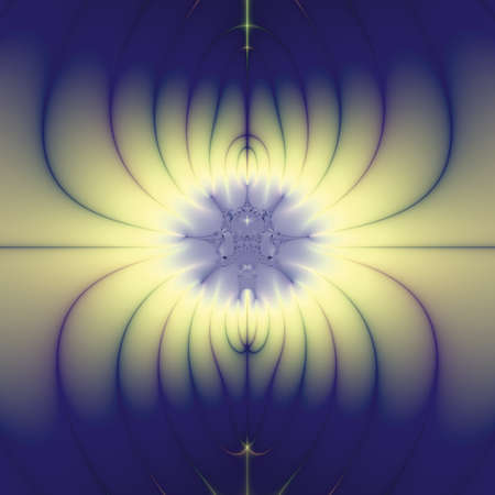 Elegant fractal design, abstract art, blue lotus