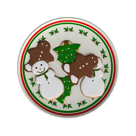Digitale 3D-Darstellung von einem Weihnachtsteller voller Kekse isoliert auf weißem Hintergrund Standard-Bild - 21159191