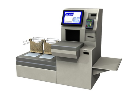 Numérique 3D rendent d'un chèque voie rapide isolé sur fond blanc Banque d'images