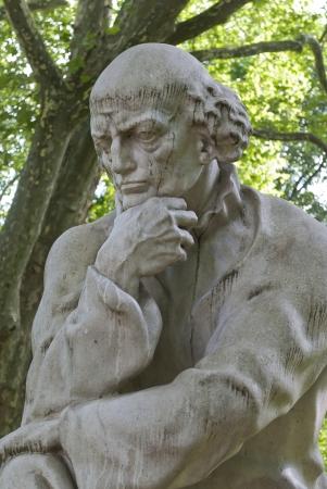 Paracelsus Monument in Salzburg, Kurgarten, Austria  免版税图像