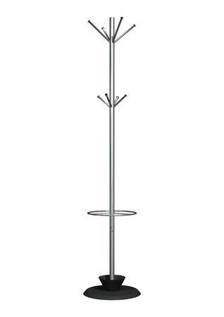 3D digital render of a coat rack isolated on white background 版權商用圖片 - 23842925