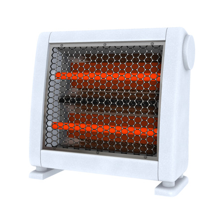 3D digital render of a ceramic heater isolated on white background