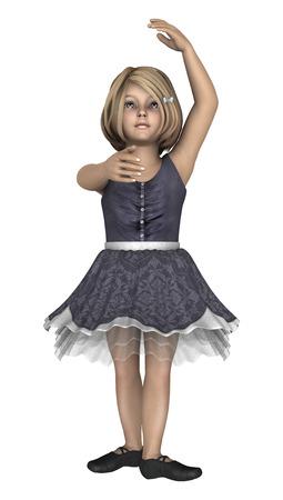 34432501 - Digital 3D render de una pequeña bailarina linda aislada en el fondo  blanco 76a7681904d