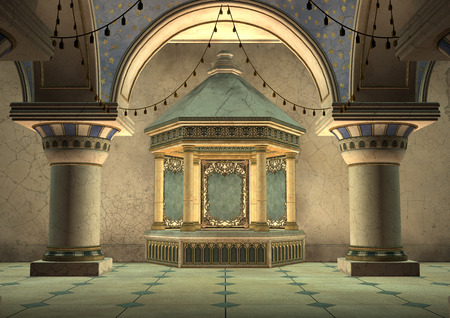 3D digital render of a fairytale oriental palace Zdjęcie Seryjne