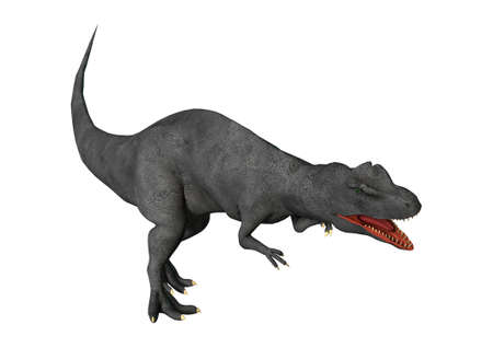 3D rendering of a dinosaur Allosaurus isolated on white background