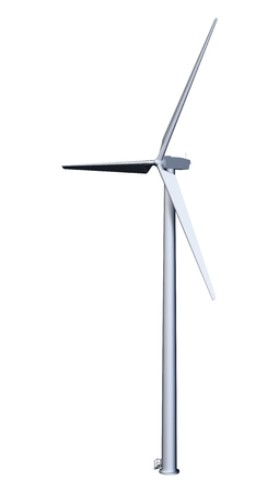 3D rendering of a wind turbine isolated on white background Stock Photo